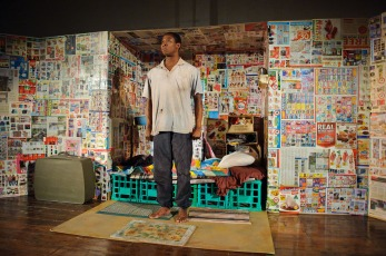 Terry Yeboah in Boxman by Daniel Keene (Photo by Deryk McAlpin)